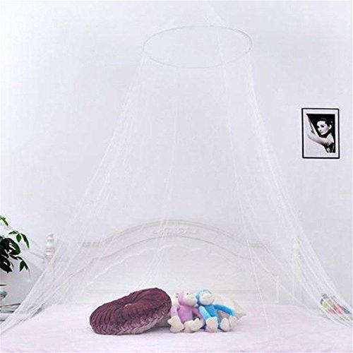Preisvergleich Produktbild Minkoll Canopy Netting Vorhang, BETT MOSKITO NET Dome hängt gegen Fliegenmücken Insekt Stoppen für Urlaub Indoor (weiß)