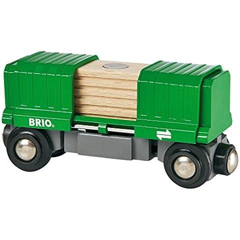 Brio - Vagón de mercancías cubierto con carga (33561)