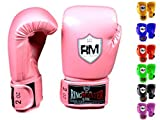RingMasterUK - Guantes de entrenamiento de boxeo para niño, color carbón, color rosa, tamaño 170 g