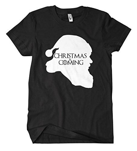 Christmas is Coming T-Shirt (Schwarz, L)