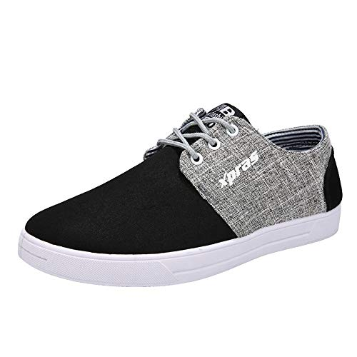 e4b37dc55c BaZhaHei Men Casual Shoes Breathable Flat Shoes Sports Shoes Student Canvas  Shoes Lace-up Running
