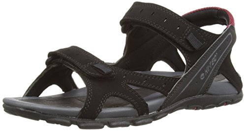 Hi-Tec Laguna Strap, Men's Sandals, Black/Charcoal/Port, 11 UK