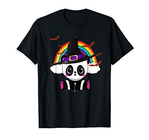 Panda Hexe Halloween Bär China Tier Outfit Kostüm Kinder T-Shirt (Frauen Panda Bär Kostüm)