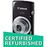 (CERTIFIED REFURBISHED) Canon IXUS 145 16MP Point and Shoot Camera (Red) with 8x Optical Zoom, 8GB Card and Camera Case