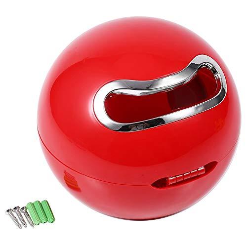 Ball Montiert (Fdit Papierrollenhalter Süße Ball in Zirkular ABS Kunststoff Desktop Bad Wand montiert Toilettenpapier Rack Praktische Red,)