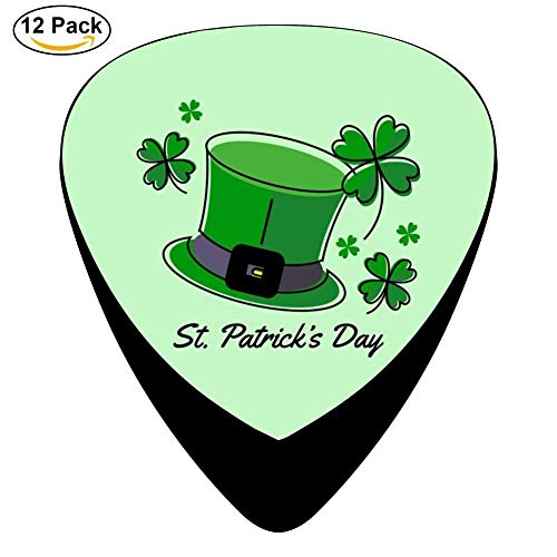 t Patrick's Day Celluloid Electric Guitar Picks 12-pack Plectrums For Bass Music Tool ()