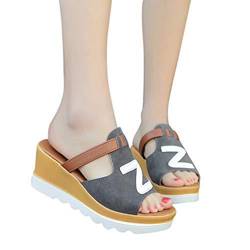 29ed71727f8 Brillanto Sandalias Mujer Plataformas Verano Sandalias Cuña Tacon de Vestir  Zapatillas Playa Sandalias Chica Zapatos Fiesta Moda