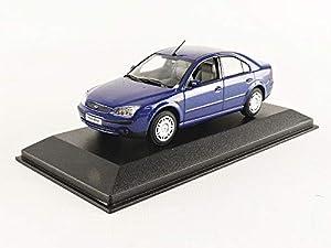 Constructor Models Coche de ferrocarril de Collection, ford019bleu, Azul Metal