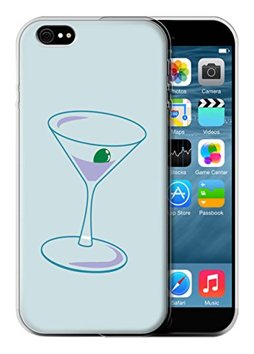 Stuff4 Gel Martini Glas Whisky Design blaugrün Fashion TPU Schutzhülle für Apple iPhone 6 (Designer Martini-gläser)