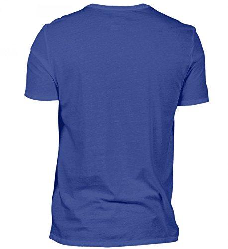 Shirtee Hochwertiges Herren Shirt - Sternzeichen Fische Wird 30 Royalblau