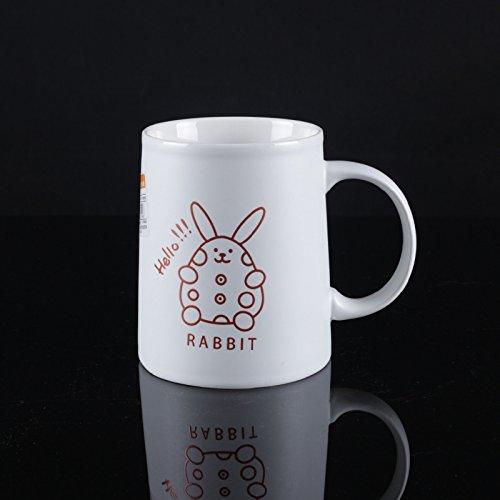 LOYWT Ceramic Cup, Carle Cup, Cami Cup, Becher-Schale, Kaffeetasse, Teetasse, Weiss