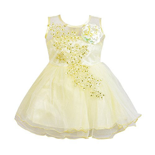 Wish Karo Baby Girls Party Wear Frock Dress DN (fe1051crm, 18-24 Months)