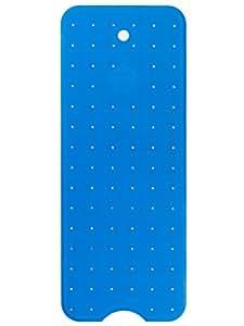 Benoku Badewannenmatte Aufhängloch Naturkautschuk Blau Extra Lang 100x40cm 362 Saugnäpfe Badewanneneinlage Rutschfest