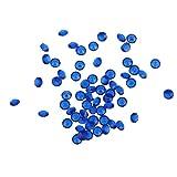 YouN Unterbrechen 5000Kristalle Diamant Hochzeit Deko Party Supplies 3mm, Marineblau, 50.00 * 50.00 * 50.00mm