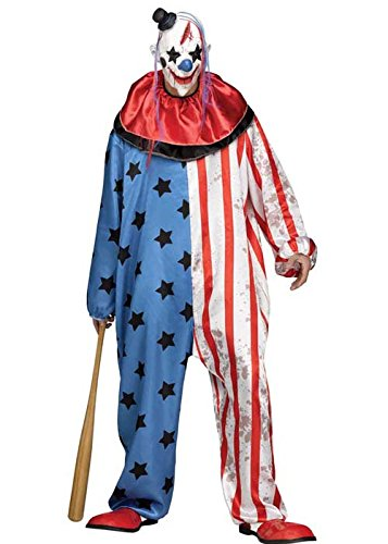 Mens Halloween böse Killer Clownskostüm