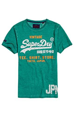 Superdry Herren Pullunder Shirt Shop Duo Overdy Lite Tee, Grün (Jade Gpk), Medium