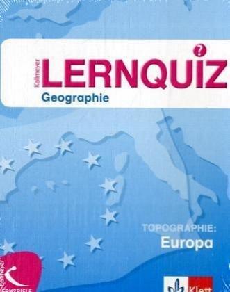 Lernquiz Geographie (Kartenspiel), Topographie Europa