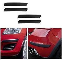 A2D Black Set of 4 Car Bumper Guard Protectors for Tata Tiago