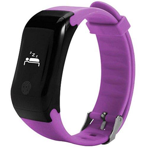 Fitness Tracker Herzfrequenz Monitor Tracker Smart Armband Activity Tracker Bluetooth Schrittzähler mit Sleep Monitor Smartwatch IP67 wasserdicht 0.66 Zoll OLED Bluetooth BLE4.0 Android4.4 und oben sy 002