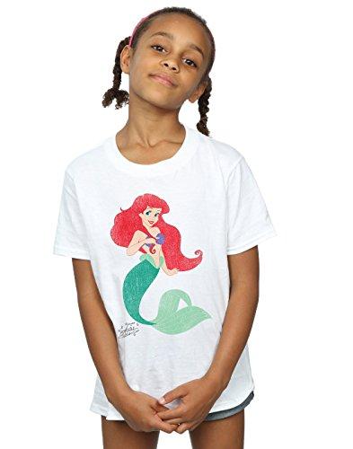 (Disney Mädchen Princesses Classic Ariel T-Shirt 9-11 Years Weiß)