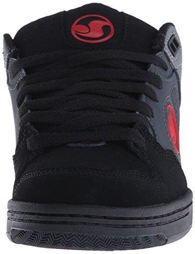 DVS Shoes Discord, Scarpe da Skateboard da Uomo Grigio (De Gry/Blk/Red Nubuck Deegan)