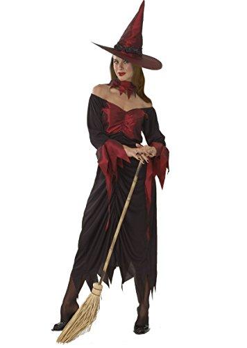 Ciao 16227–Hexe Kostüm für Erwachsene, Rot, ()