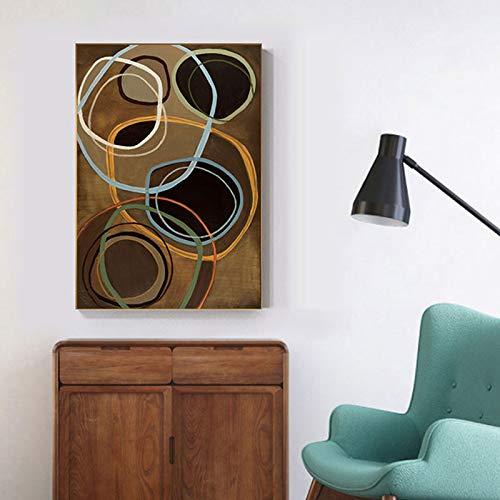 yaoxingfu Kein Rahmen Moderne Bunte Blase Kreise Leinwand ng stilvolle Poster drucken für Wohnzimmer Schlafzimmer Innenarchitekt abstrakte Wandkunst 30x45cm