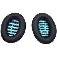 Ersatz Ohrpolster Ohr Auflage Kissen für Bose Quietcomfort 2 QC2, Quietcomfort 15 QC15, Quietcomfort 25 QC25, Quietcomfort 35 QC35, Around Ear 2 AE2, AE2i, AE2w Kopfhörer mit iParaAiluRy Garantie (Schwarz)