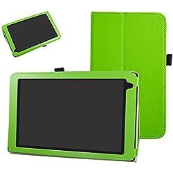 """Archos 101b Oxygen Coque,Mama Mouth Slim Folio PU Cuir debout Fonction Housse Coque Étui Couverture pour 10.1"""" Archos 101b Oxygen Android 6.0 Tablet PC,Vert"""