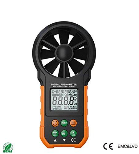 c4091d9bb12 YMXLJJ Anemómetro Digital USB Handheld Temperatura Y Humedad Wind Speed  Instrumento De Prueba De
