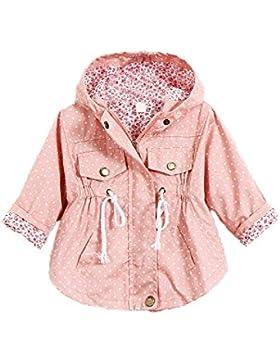 TOOGOO(R)Ninos chicas Chaqueta Ropa de punto de polca estampado Vestido exterior de bebe Capa de foso de chica...