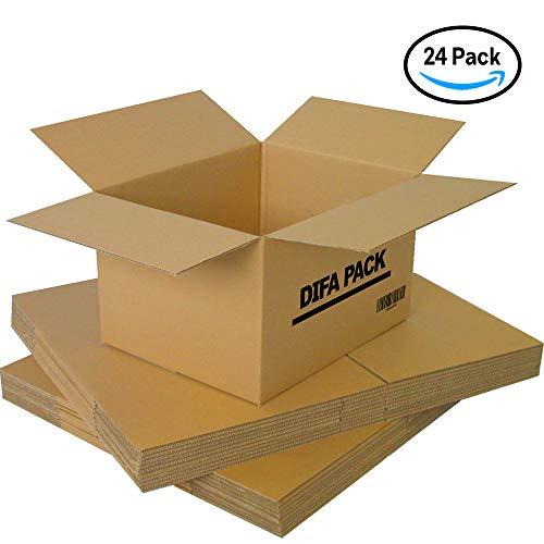 Pack de 12/24 Cajas de Cartón - Alta Calidad, Resistente - Cajas de Mudanza - Color Marrón - Fabricadas en España - Tamaño 440 x 310 x 260 mm - Mudanza - Almacenaje (24)