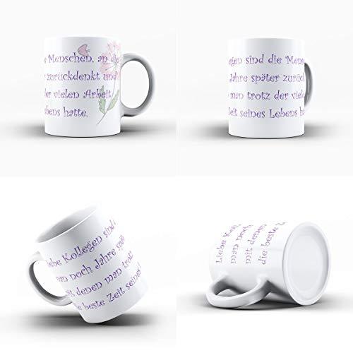 Creativgravur Kaffeetasse Kaffeebecher - Für die besten Kollegen und Freunde zum Abschied - das...