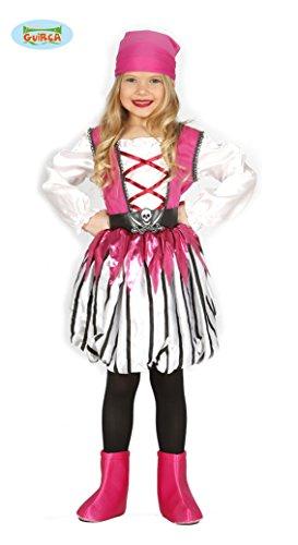 (Guirca Rosa Piratin Kostüm für Mädchen, Größe:98/104)