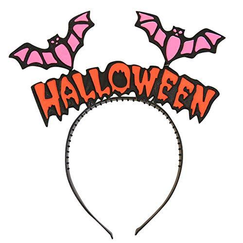 Ansenesna Halloween Kostüm Kinder Mädchen Stirnband Haarkopf Haarband Foto Requisiten Für Party (Fledermaus 1)