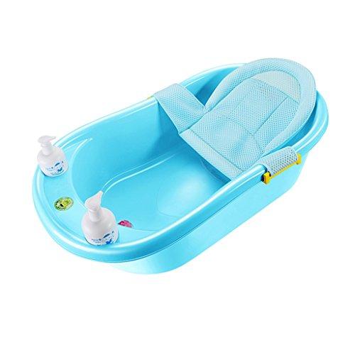 JCOCO Antideslizante Portatil Puede Sentarse y Acostarse Plastico Multifuncional 0-6 Anos de Banera de Bebe Comodo y Durable/Material de Seguridad/Estable y No Deformado (Color : Azul)