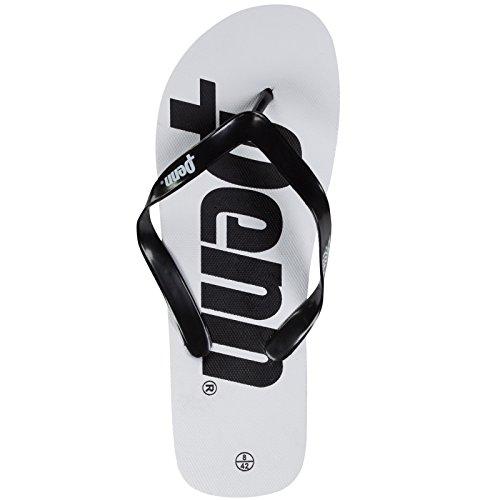 Penn Flip-Flops mit Logo Weiß/Schwarz