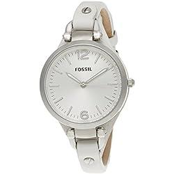 Fossil End-of-Season Georgia Analog Silver Dial Women's Watch - ES2829