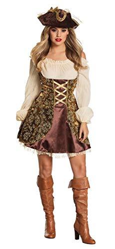 Boland 87796 - Erwachsenenkostüm Piratin, Kleid Größe 44 / 46, mit Hut