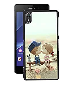 Crazymonk Premium Digital Printed 3D Back Cover For Sony Xperia Z2