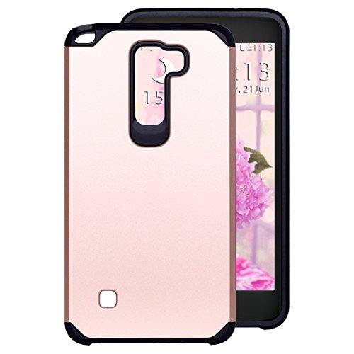 Preisvergleich Produktbild LG Stylus 2 LS775 Hülle Outdoor Rosa Schleife® PC Hard Back Cover Weich Silikon Bumper mit Dual Layer Schutz Hybrid Case Schutzhülle Handyhülle für LG G4 Stylus 2 / LG G Stylo 2/ LS775 (5.7 Zoll)