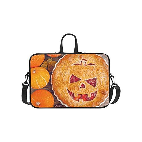 machte Torte Halloween, die Pumpkinstrawberry füllt Stockfoto Muster-Aktenkoffer-Laptop-Tasche Kurier Shoulder Work Bag Crossbody-Handtasche für das Geschäftsreisen ()