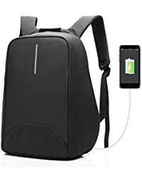 CoolBELL Unisex-Adults Anti-Theft Backpack for Laptops with USB Charging Port,Lightweight,Functional and Waterproof 15 6 inches Black