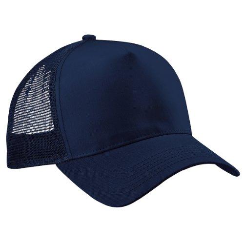 Beechfield Herren Mesh Trucker Baseballkappe (Einheitsgröße) (Marineblau/Marineblau) Twill Mesh Cap