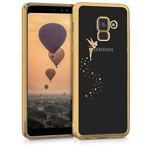 kwmobile Samsung Galaxy A8 (2018) Hülle - Handyhülle für Samsung Galaxy A8 (2018) - Handy Case in Gold Transparent