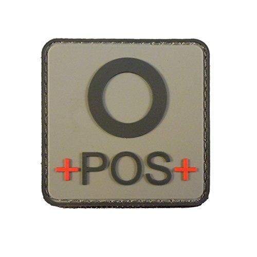 ACU Gray OPOS O+ Blutgruppen Taktisch Tactical Combat PVC Gummi 3D Velcro Aufnäher Patch