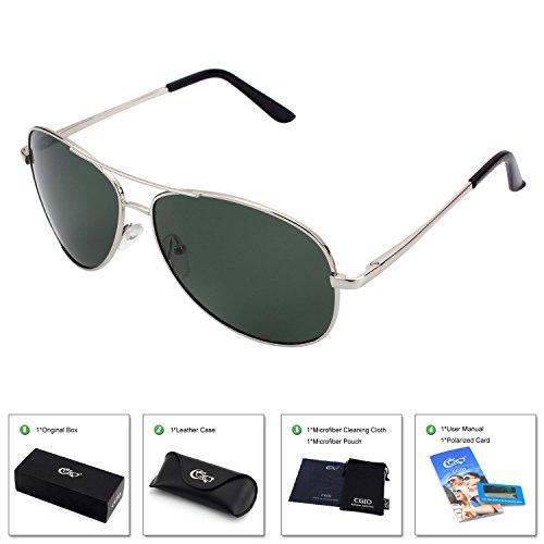 780e24b083b CGID GA03 Premium Al-Mg Alloy Full Mirrored Aviator Polarized Sunglasses  UV400