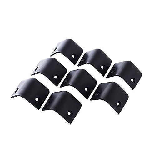 Forfar Noir 8pcs Guitare en plastique dur Amplificateur Amp Président Protecteur Corners Cabinet