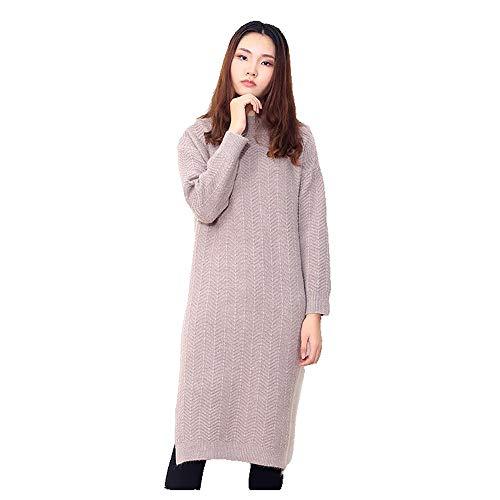 Wuxingqing Vintage Swing Partykleid für Damen Frauen Plus größe oansatz Langarm Pullover Pullover Tops für Frauen Damen termin einkaufen Reise Damen Abendkleid (Farbe : ()