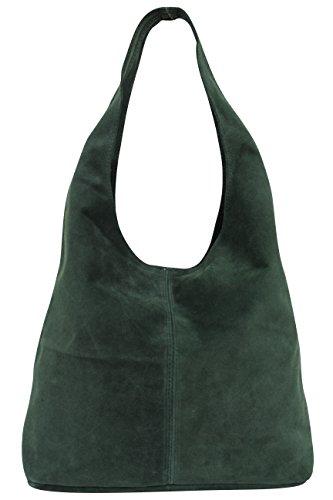WL818 Sac de courses en cuir pour femme - Vert - vert foncé,